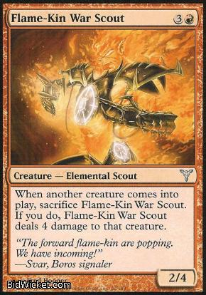 Flame-Kin War Scout, Dissension, Magic the Gathering