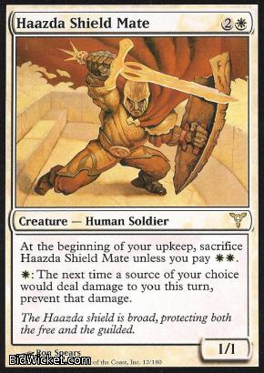 Haazda Shield Mate, Dissension, Magic the Gathering