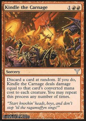 Kindle the Carnage, Dissension, Magic the Gathering