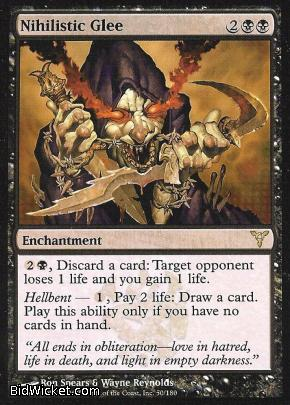 Nihilistic Glee, Dissension, Magic the Gathering