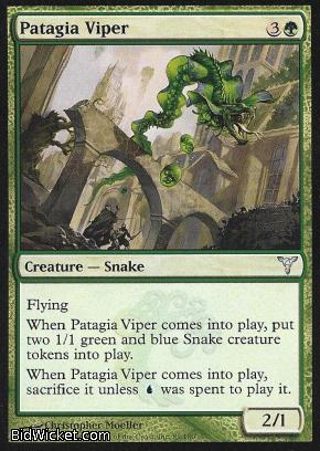 Patagia Viper, Dissension, Magic the Gathering