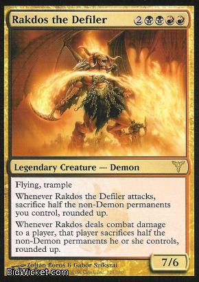 Rakdos the Defiler, Dissension, Magic the Gathering