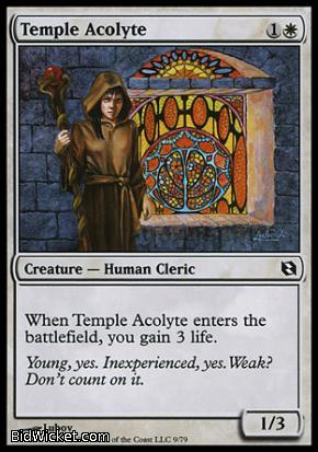 Temple Acolyte, Duel Decks: Elspeth vs Tezzeret, Magic the Gathering