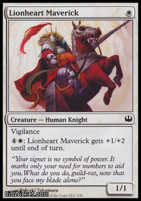 Lionheart Maverick, Duel Decks: Knights vs Dragons, Magic the Gathering