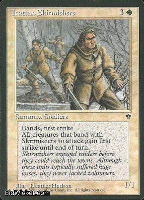 Icatian Skirmishers, Fallen Empires, Magic the Gathering