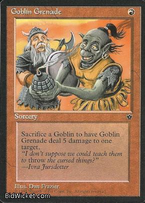 Goblin Grenade (1), Fallen Empires, Magic the Gathering