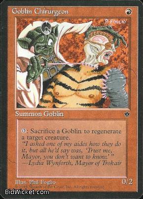 Goblin Chirurgeon (1), Fallen Empires, Magic the Gathering