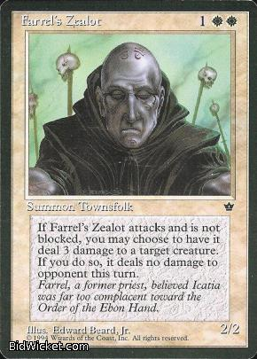 Farrel's Zealot (1), Fallen Empires, Magic the Gathering