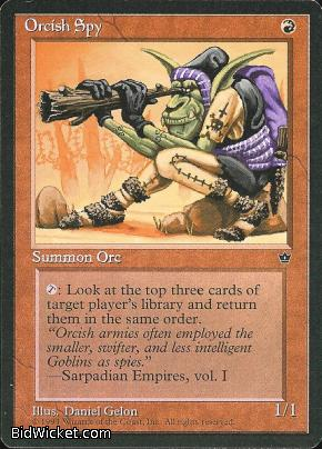 Orcish Spy (1), Fallen Empires, Magic the Gathering