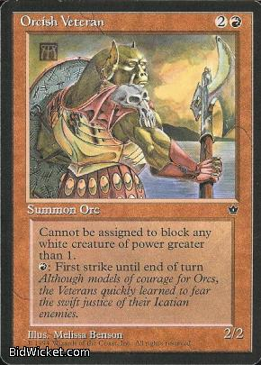 Orcish Veteran (1), Fallen Empires, Magic the Gathering