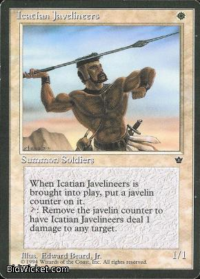 Icatian Javelineers (1), Fallen Empires, Magic the Gathering