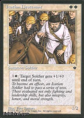 Icatian Lieutenant, Fallen Empires, Magic the Gathering