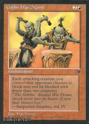 Goblin War Drums (1), Fallen Empires, Magic the Gathering