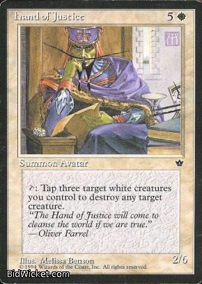 Hand of Justice, Fallen Empires, Magic the Gathering
