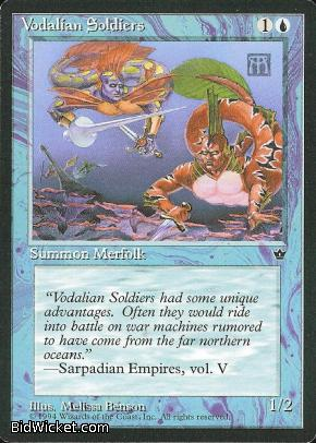 Vodalian Soldiers (1), Fallen Empires, Magic the Gathering
