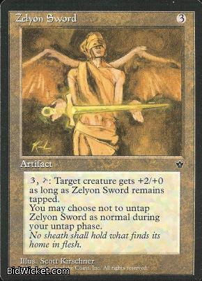 Zelyon Sword, Fallen Empires, Magic the Gathering