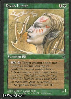 Elvish Hunter (1), Fallen Empires, Magic the Gathering