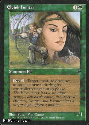 Elvish Hunter (3), Fallen Empires, Magic the Gathering