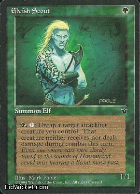 Elvish Scout (1), Fallen Empires, Magic the Gathering