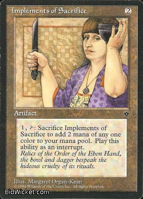 Implements of Sacrifice, Fallen Empires, Magic the Gathering