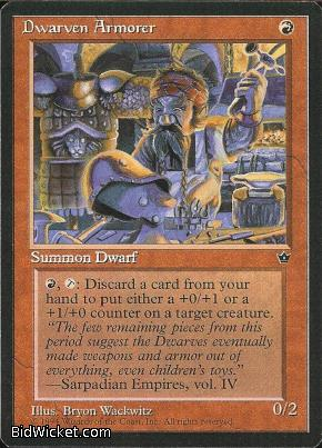 Dwarven Armorer, Fallen Empires, Magic the Gathering