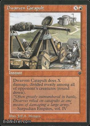 Dwarven Catapult, Fallen Empires, Magic the Gathering