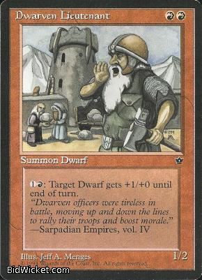 Dwarven Lieutenant, Fallen Empires, Magic the Gathering