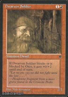 Dwarven Soldier (1), Fallen Empires, Magic the Gathering