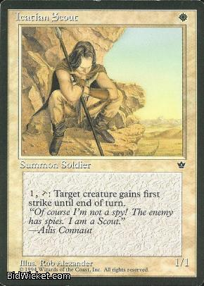 Icatian Scout (1), Fallen Empires, Magic the Gathering