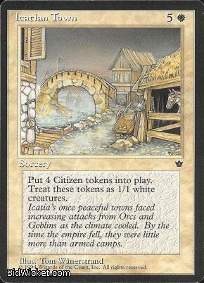 Icatian Town, Fallen Empires, Magic the Gathering