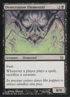 Desecration Elemental, Fifth Dawn, Magic the Gathering
