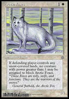 Arctic Foxes, Ice Age, Magic the Gathering