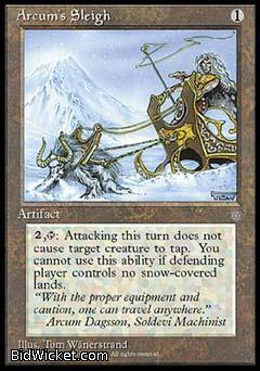 Arcum's Sleigh, Ice Age, Magic the Gathering