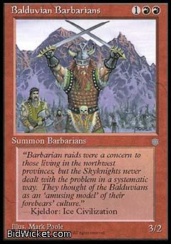 Balduvian Barbarians, Ice Age, Magic the Gathering