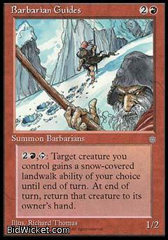 Barbarian Guides, Ice Age, Magic the Gathering