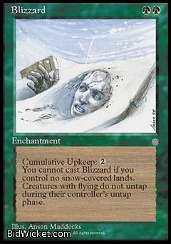 Blizzard, Ice Age, Magic the Gathering