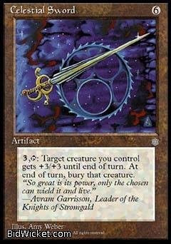 Celestial Sword, Ice Age, Magic the Gathering