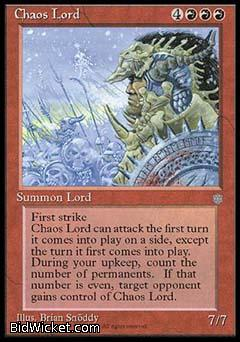 Chaos Lord, Ice Age, Magic the Gathering