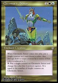 Chromatic Armor, Ice Age, Magic the Gathering
