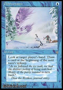 Clairvoyance, Ice Age, Magic the Gathering
