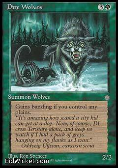 Dire Wolves, Ice Age, Magic the Gathering