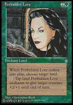 Forbidden Lore, Ice Age, Magic the Gathering