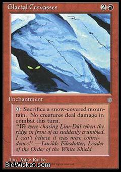 Glacial Crevasses, Ice Age, Magic the Gathering