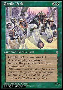 Gorilla Pack, Ice Age, Magic the Gathering