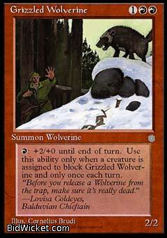 Grizzled Wolverine, Ice Age, Magic the Gathering