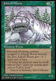 Johtull Wurm, Ice Age, Magic the Gathering