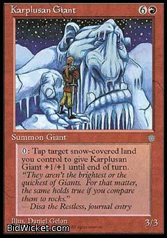 Karplusan Giant, Ice Age, Magic the Gathering