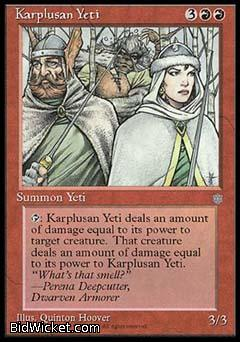 Karplusan Yeti, Ice Age, Magic the Gathering