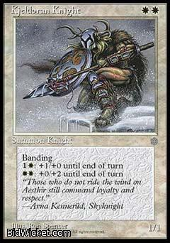 Kjeldoran Knight, Ice Age, Magic the Gathering