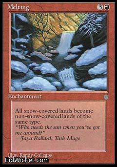 Melting, Ice Age, Magic the Gathering